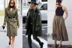 军绿色外套搭配图片推荐 欧美街头最常见穿搭法