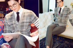 杨洋出席品牌活动 戴眼镜变斯文贵公子