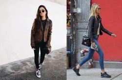 各式各样的皮衣搭配 这个冬天怎么穿都时髦