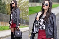 冬季黑色夹克外套搭配 不仅酷帅还魅力十足