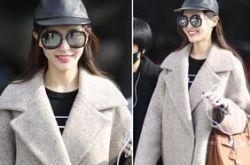 大衣怎么搭配 唐嫣用她的时尚街拍告诉你