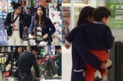 郭晶晶儿子罕见出镜 一家三口逛超市温馨幸福