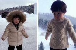 贾静雯女儿咘咘 雪地发脾气是要变身吗