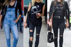 三招教你如何将破洞牛仔裤穿得更时髦