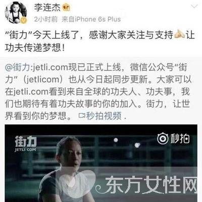 李连杰创办功夫视频网站