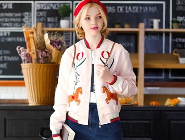 春季飞行员夹克搭配 春季女装新款飞行员夹克外