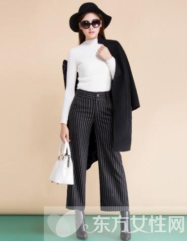 时尚模特穿衣搭配 露脚踝九分裤才是时尚利器