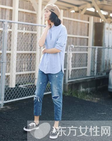 破洞牛仔裤怎么搭配 6种方式让你完美驾驭