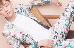 演员都金翰曝时尚写真大片 印花套装干练帅气