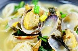 花蛤蜊汤面