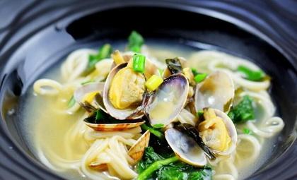 花蛤蜊汤面的做法步骤