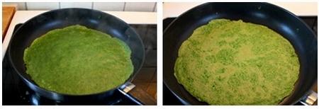 菠菜鸡蛋饼步骤5-6