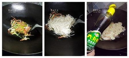 (1)酱油炒面步骤4-6